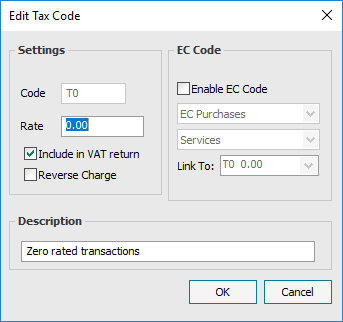 Ask Sage - Default tax codes and how they affect your VAT