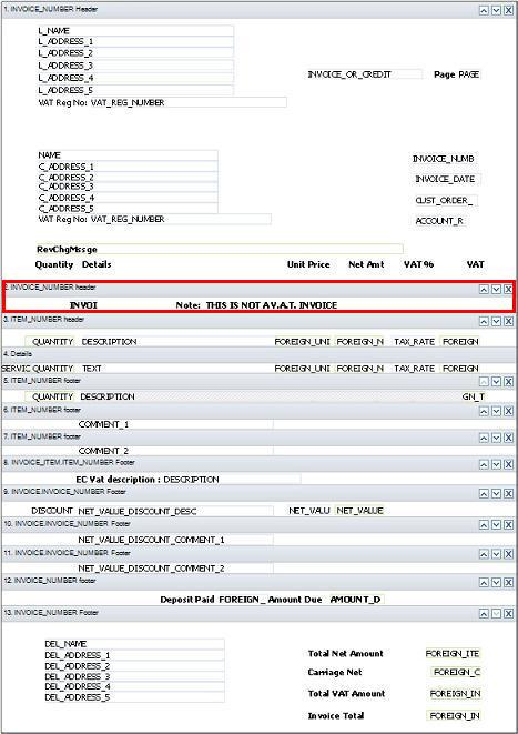 Ask Sage Sage Accounts Customise Your Invoice And Credit Note - Invoice header