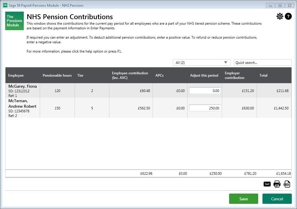 Pension contributions nhs employers.