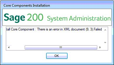 ask sage sage 200 extra there is an error in xml document