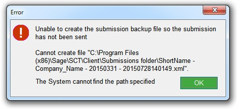 Ask Sage - Unable to create submission backup file so the