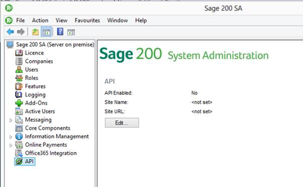 Ask Sage - Sage 200 - How to set up the API Service for use